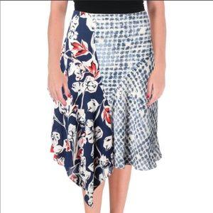 NWT Ivanka Trump Floral Asymmetrical Floral Skirt